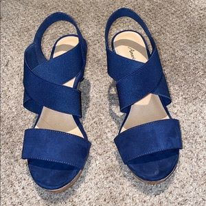 blue wedges